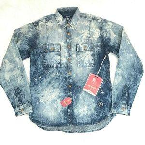 Prps Goods & Co Light Blue Denim Button Down Shirt